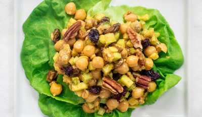 Insanely Simple Curried Chickpea Salad