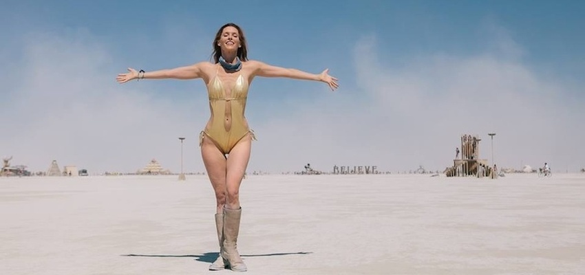 Emily Fletcher at Burning Man