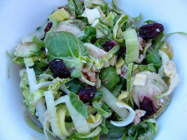 ... shredded brussels sprouts salad is a complement to any Thanksgiving