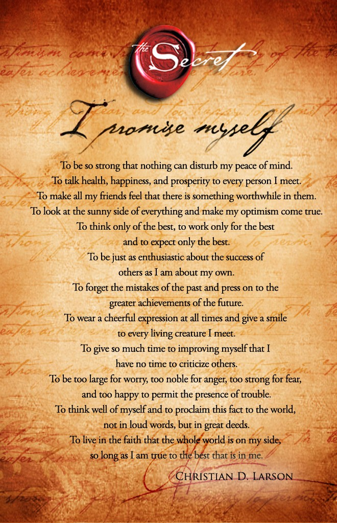 i promise myself