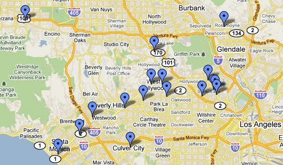 Rory's Vegan Food Guide to LA Map