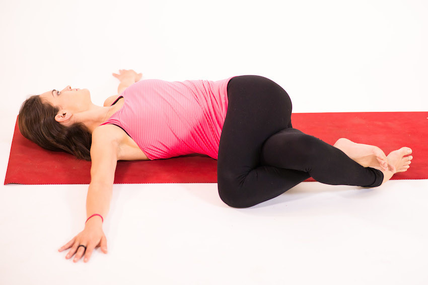 Resultado de imagen para reclining twist yoga